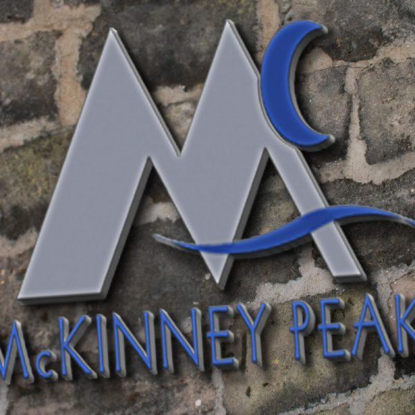 McKinney Peaks signage