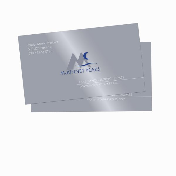 McKinney Peaks business cards