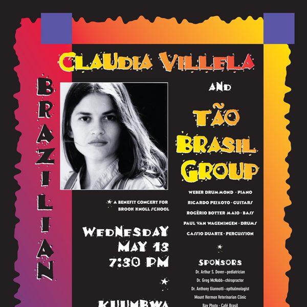 Brazillian jazz concert poster close-up