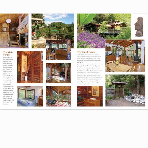 Real estate promo brochure interior spread