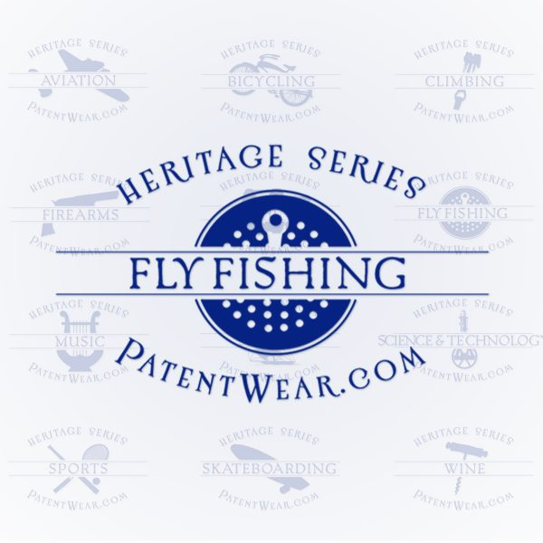 Fly Fishing icon designed for PatentWear's Heritage Series sales sheets project