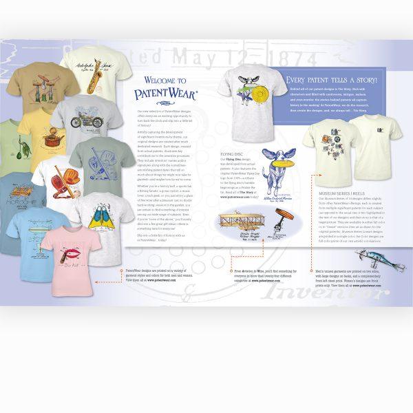 PatentWear promo brochure interior spread