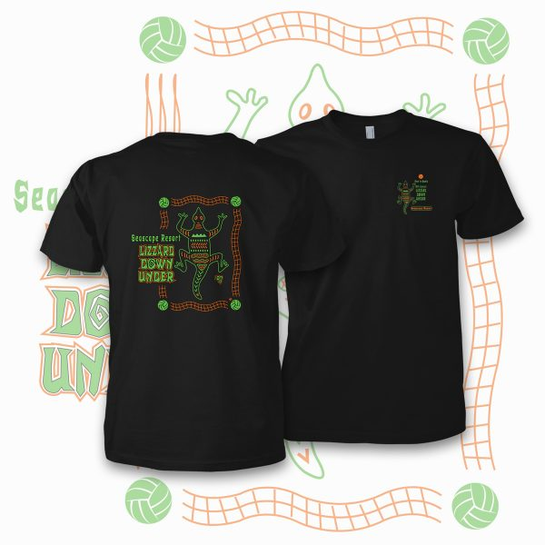 Lizzard volleyball t-shirt design