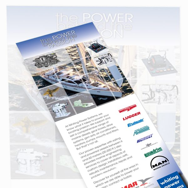 """Corporate ad for """"The Power Behind the Passion"""" campaign, placed in various high-end international and nationwide marine industry magazines"""
