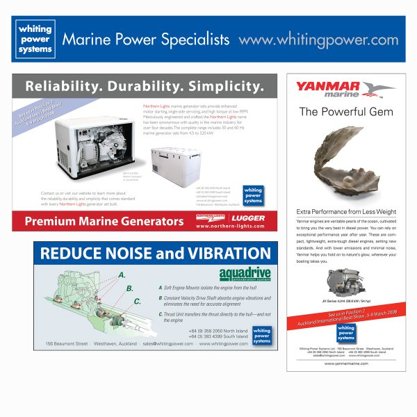 Various marine industry product ads