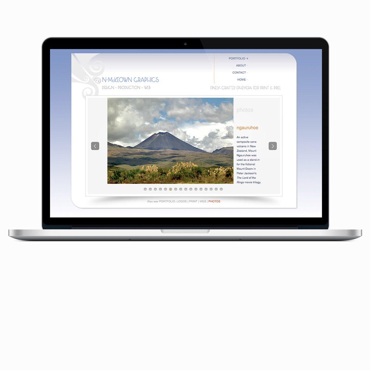 NMcKeown Graphics photography Javascript slider page