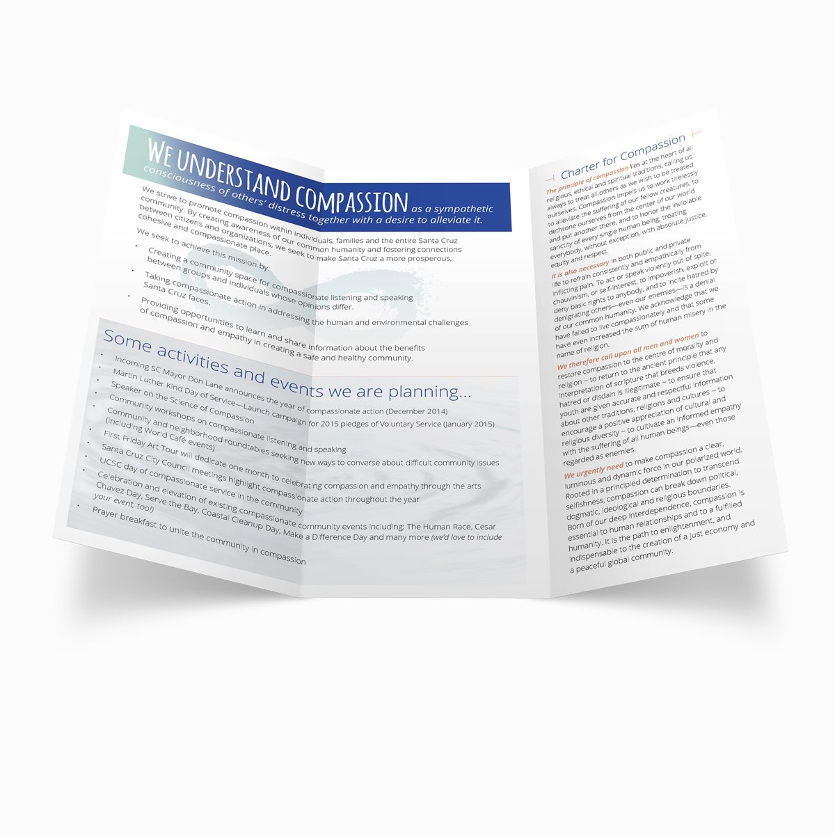 Charter for Compassion tri-fold, interior