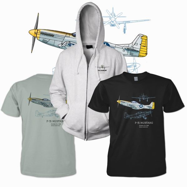 P-51 Mustang design for PatentWear's Aviation category