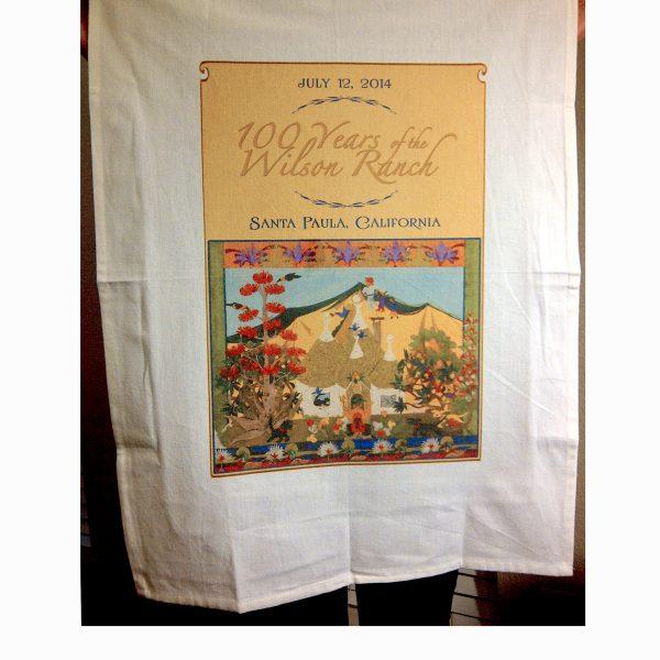 Wilson Ranch 100th Anniversary tea towel