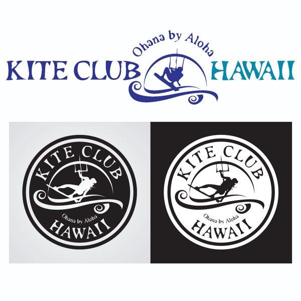 Kite Club Hawaii Logo various applications
