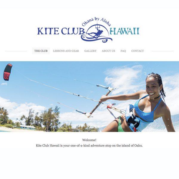 Kite Club Hawaii Website Home Page