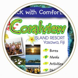 Coralview Island Resort sign board feautred