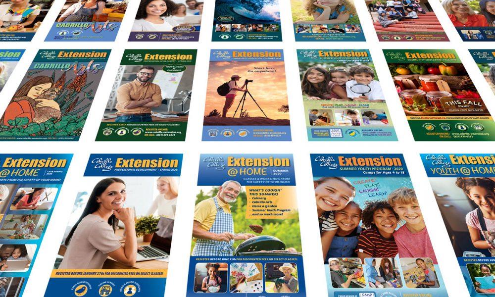 21 Cabrillo Extension catalogs produced 2018-20