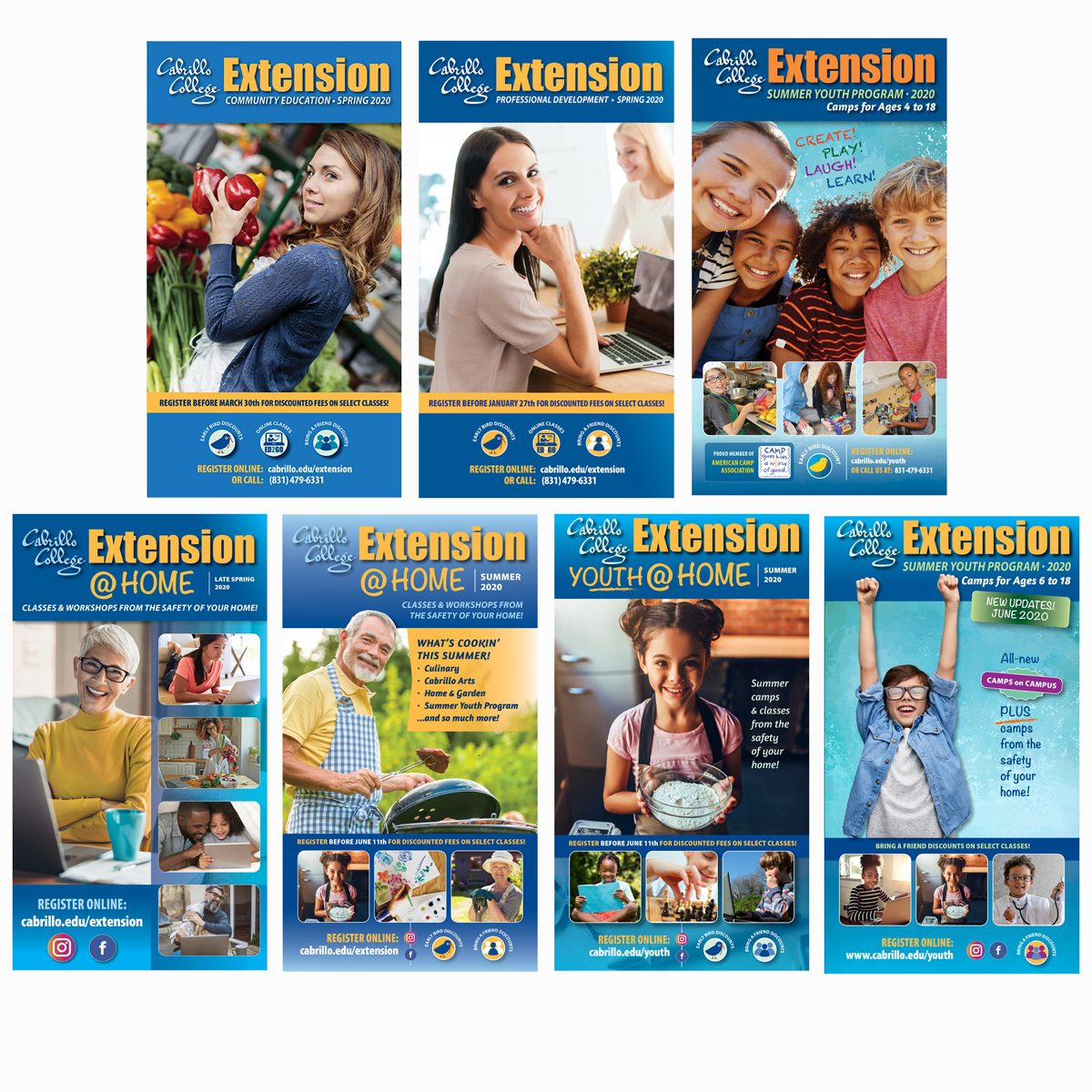 Cabrillo Extension catalogs produced for the year 2020