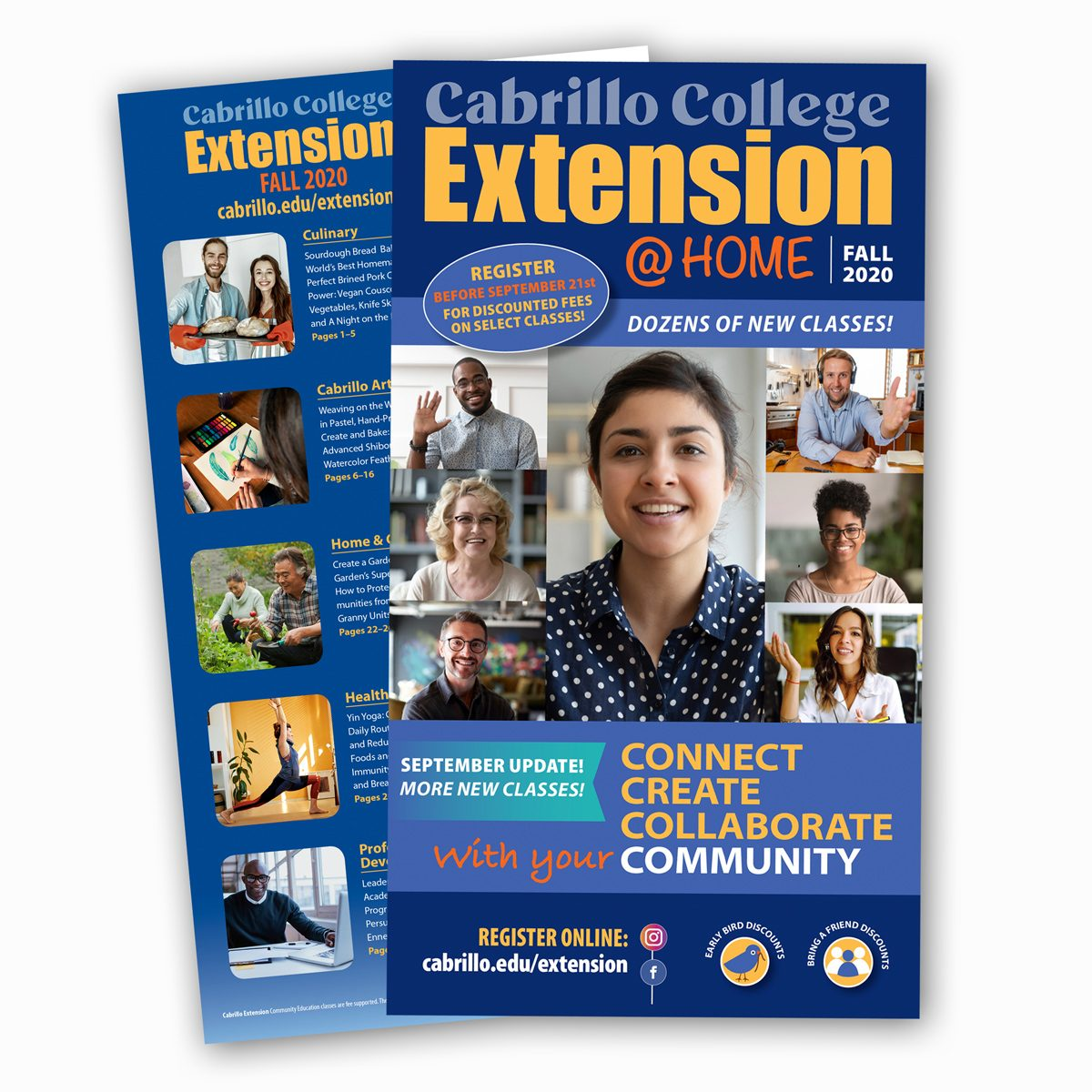 Cabrillo Extension Fall 2020 @Home catalog, front & back