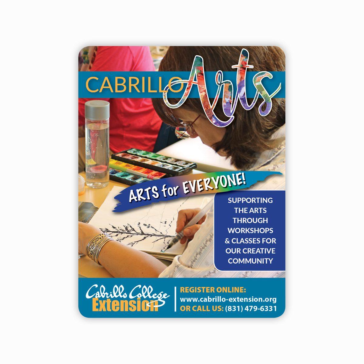Cabrillo Arts ad for Open Studios Santa Cruz publication