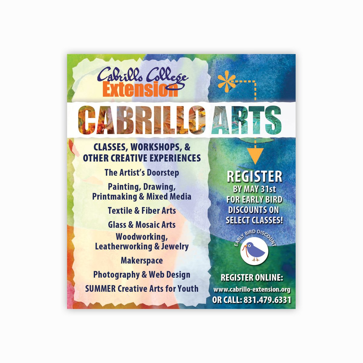 Cabrillo Arts ad for Good Times Santa Cruz publication