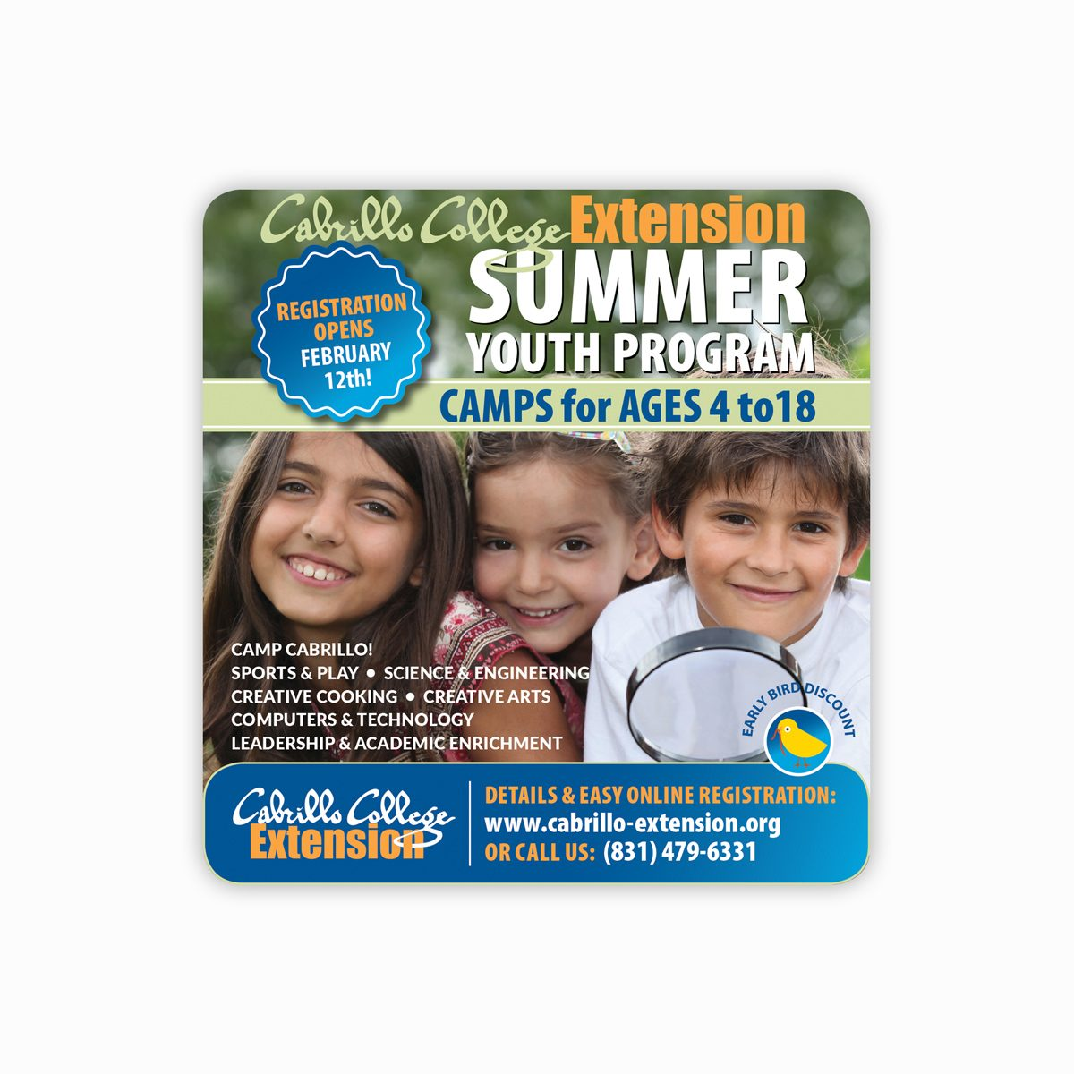 Cabrillo Youth Summer program for Good Times Santa Cruz publication
