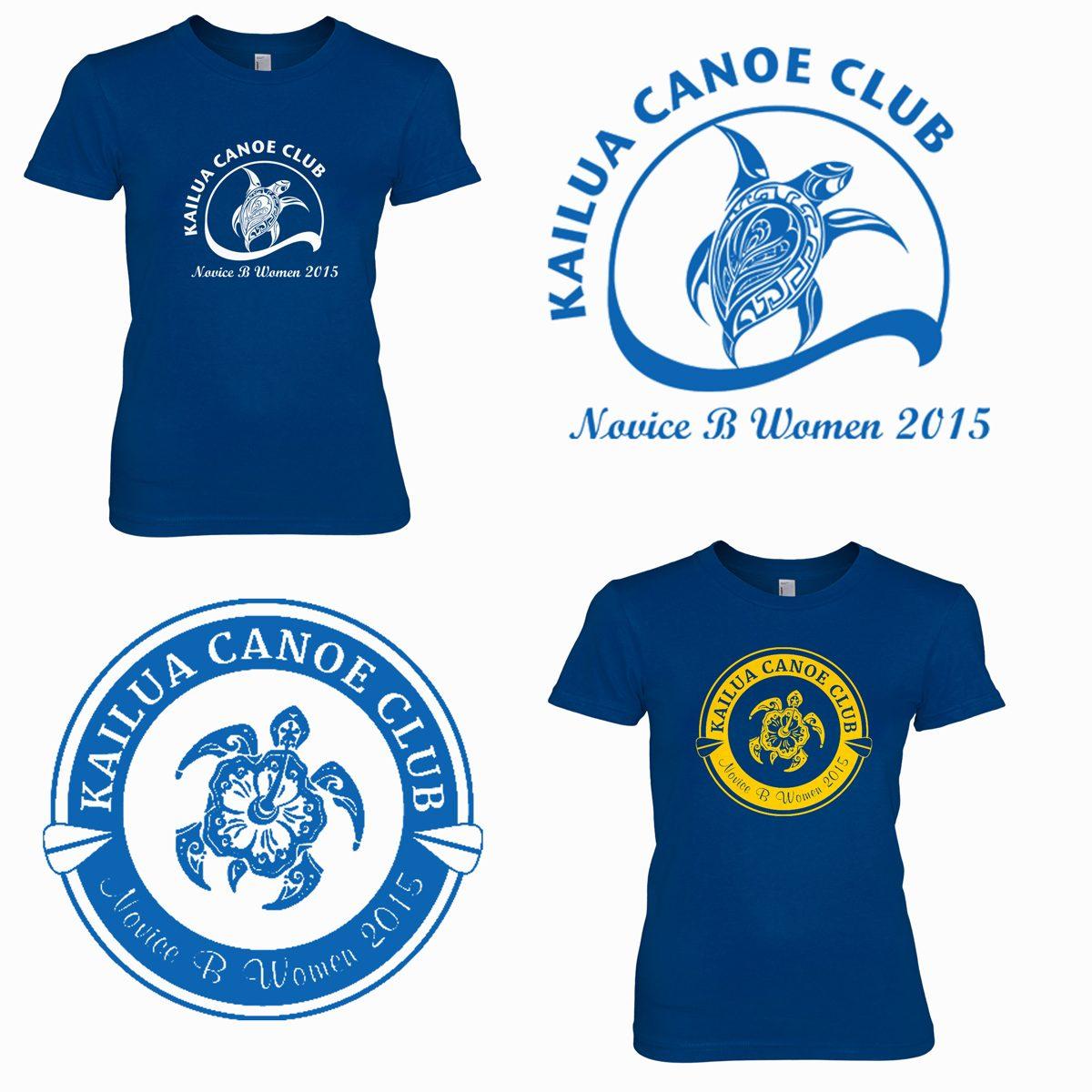 Two alternative design ideas for the Novice B Women's section of the Kailua Canoe Club